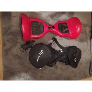 Deska Elektryczna hoverboard 10 cali czerwona + TO