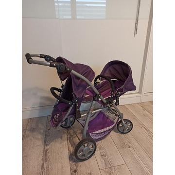 Wózek dla bliźniąt dla lalek Chic Bayer