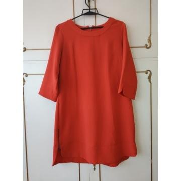 Sukienka -tunika czerwona rozm . 14