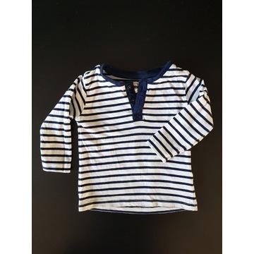 Bluzeczka w paski r.74 cool club s.idealny