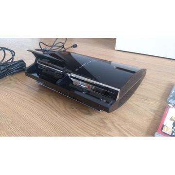 Playstation 3 80GB CECHE01 Komp. w PS2+8gier+2pady