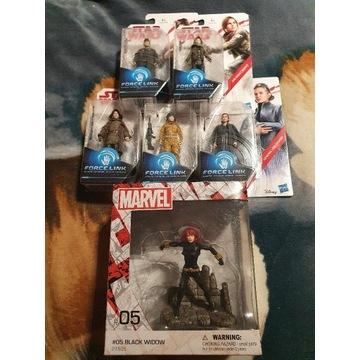 Star Wars 5 szt figurek + Marvel