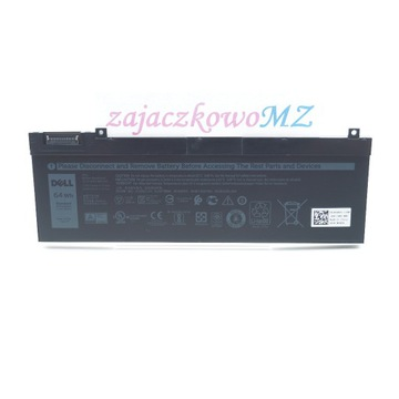Bateria DELL Precision 7530 5TF10 8000mAh