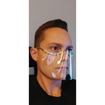 Mini przyłbica - wygodna jak okulary