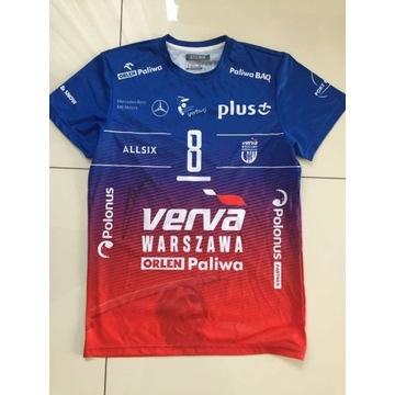 Koszulka meczowa Verva Warszawa autograf A. Wrona