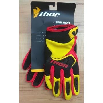 Rękawiczki rowerowe z napisem THOR, długie palce