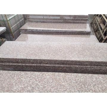 schody, stopień, granit Brąz Królewski, 185x35x3cm