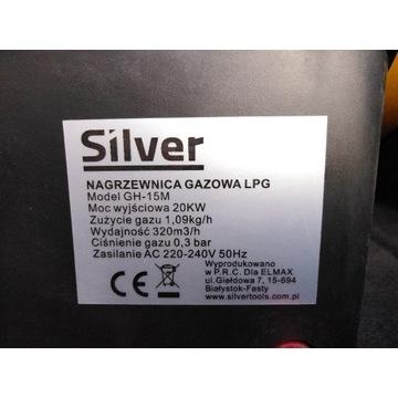 NAGRZEWNICA GAZOWA 20KW DMUCHAWA SILVER