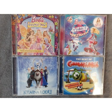 4 płyty CD Kraina lodu soundtrack Barbie GummiMiś