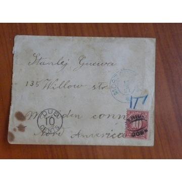 UNIKAT list do USA nieofrankowany dopłata w USA