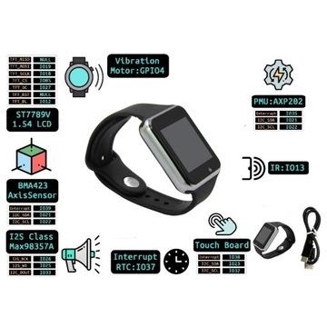 ESP32 smartwatch z własnymi aplikacjami w Arduino