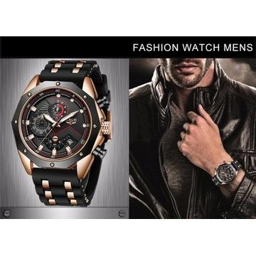 Duży,  ciężki, ekskluzywny zegarek-Licytacja od1zł