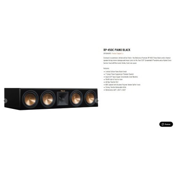 Kupię Klipsch rp450 rp504 rp440 Piano Black