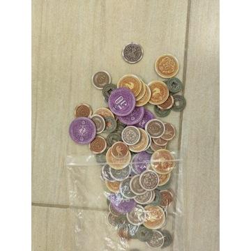 Gra Scythe - znaczniki surowców oraz monety