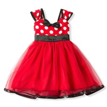 Czerwona sukienka z motywem Myszka Miki