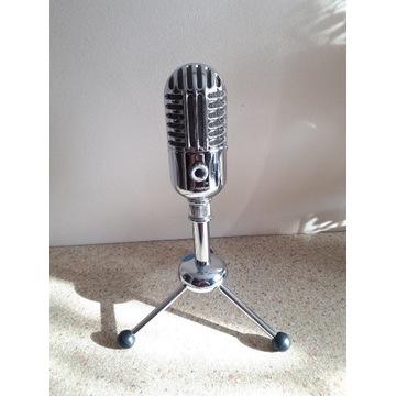 Mikrofon pojemnościowy Alctron + pop filtr