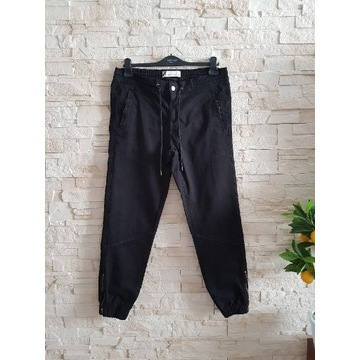 Dressmann spodnie męskie czarne joggery rozmiar M