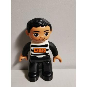 Oryginalna figurka LEGO DUPLO więzień PRZESTĘPCA