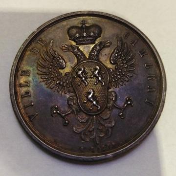 """Medal Francja 1834 r """"Ville de Camblari"""" UNC"""