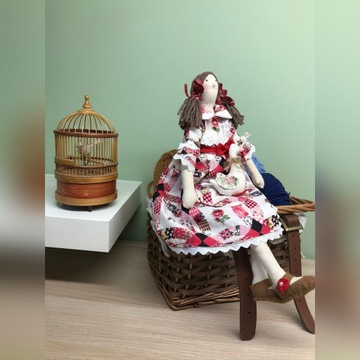 panienka z płócienka lalka TILDA prezent handmade