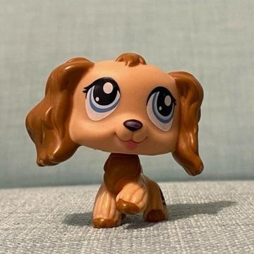 Littles Pet Shop - figurka, spaniel, unikat