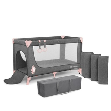 Łóżeczko turystyczne Joy Kinderkraft pink