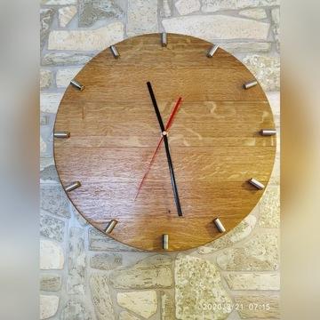 Zegar drewniany dębowy z beczki