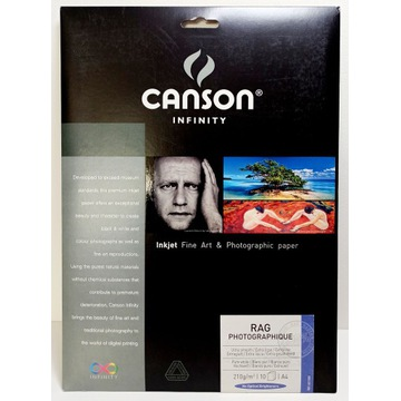 Canson Infinity Rag Photographique 210g - A4, 10 a