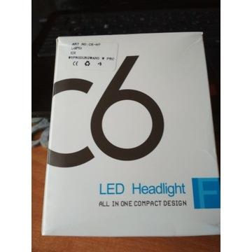 ZESTAW LED 2X H7 C6 COB MOCNE ŻARÓWKI 7600LM 72W