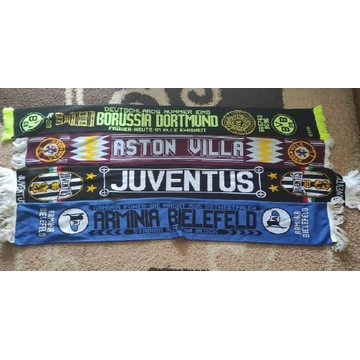 Szaliki Borussia D, Juventus, Aston Villa