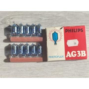 Żarówki spaleniowe PHILIPS AG3B 10szt. Blyskowe