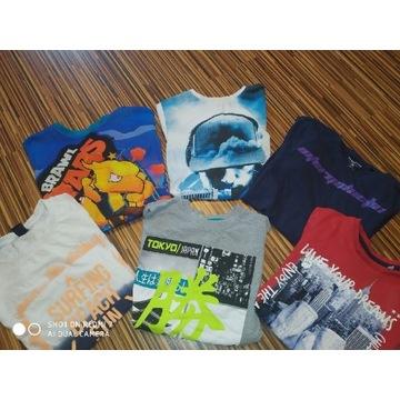 Zestaw koszulek krótki rękaw 146cm