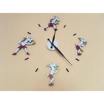 Zegar na ścianę - Koziołek Matołek - kolorowy
