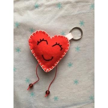 Breloczek z filcu serce, walentynki