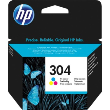 Oryginalny  tusz HP 304  N9K05AE  kolor