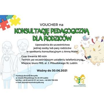 Voucher - konsultacje pedagogiczne dla rodziców