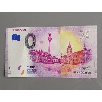 Banknot 0 Euro - Stara Warszawa - 2019