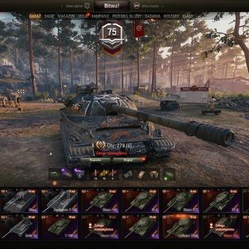 World of Tanks konto OB 279(e) 260 34k 2,5k wn 56%