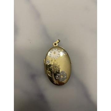 Damski Sekretnik wisior dawny wyrób złoto 585