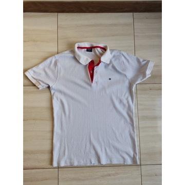 Koszulka polo Tommy Hilfiger jasna rozmiar M