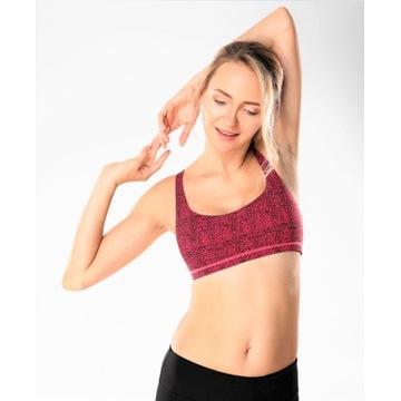 Stanik sportowy do jogi i fitnessu L