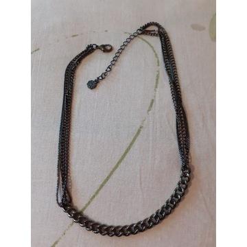 Naszyjnik z elementami łańcucha i łańcuszków