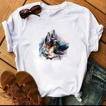 Koszulka t-shirt bluzka pies owczarek niemiecki