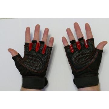 Rękawiczki pół palca hulajnoga rower siłownia