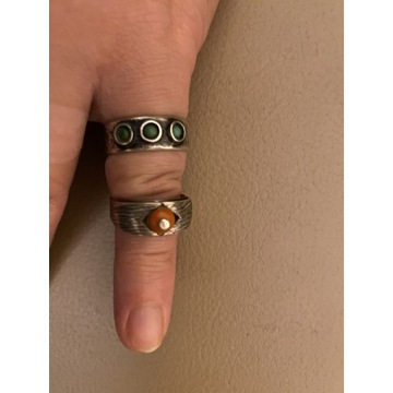 Stare srebrne pierścionki ORNO