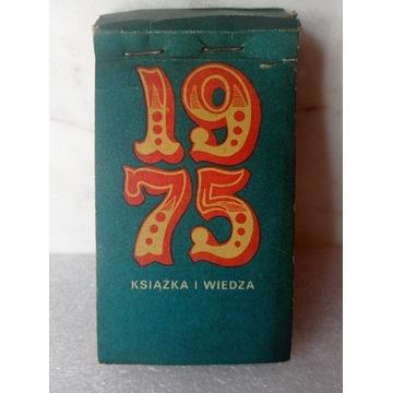 Kalendarz zdzierak listkowy 1975 książka i wiedza