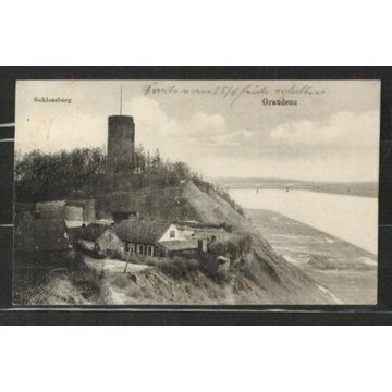Grudziądz- datownik FESTE COURBIERE -Feldpost 1915
