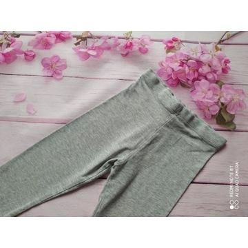 Szare spodnie leginsy dla dziewczynki 92 F&F