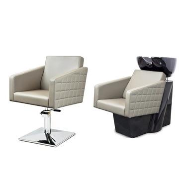 2 x Fotel Fryzjerski + Myjnia Fryzjerska TORO