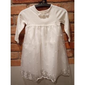 Piękna nowa sukienka, chrzest,92 okazja!!!